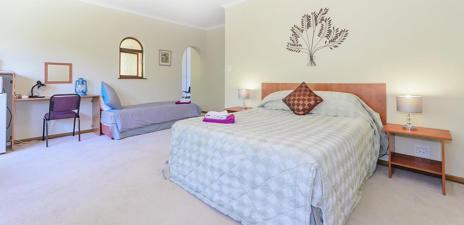 Well equipped and spacious bedrooms
